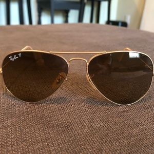 Authentic Ray Ban polarized aviator glasses